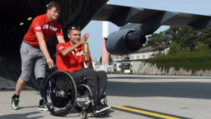 Invictus Spirit Flame makes stop in Germany