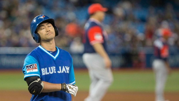 Blue Jays designate Nori Aoki for assignment