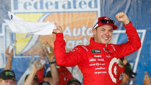 Larson steals final regular-season race