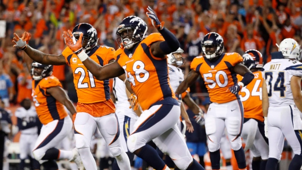 Shaquil Barrett, Broncos celebrate win