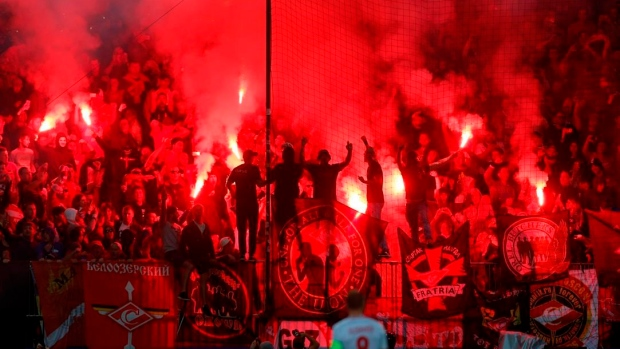 UEFA charges Spartak Moscow after flare fired at referee Article Image 0