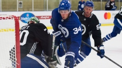Auston Matthews at training camp
