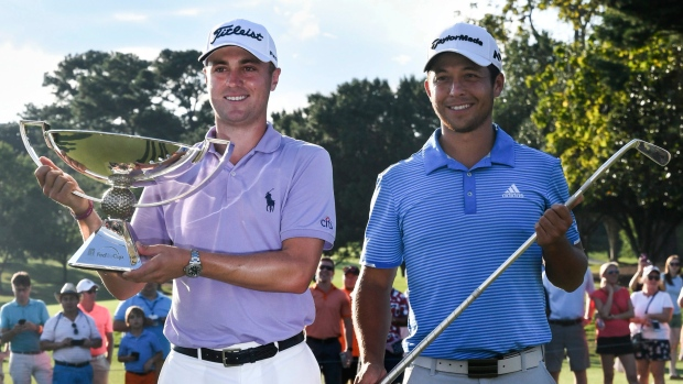 Justin Thomas and Xander Schauffele