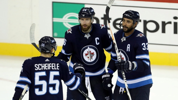 Winnipeg Jets celebrate goal