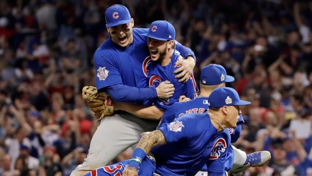 Chicago Cubs celebrate
