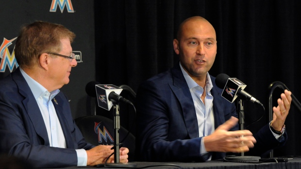 Derek Jeter's group closes on purchase of Miami Marlins