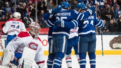 Leafs celebrate vs. Price, Canadiens