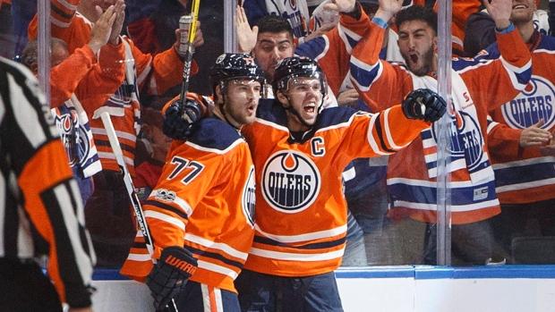 68620aca3b1 McDavid s opening-night hat trick leads Oilers past Flames - TSN.ca