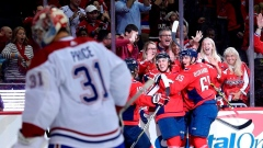 Washington Capitals celebrate vs Montreal Canadiens