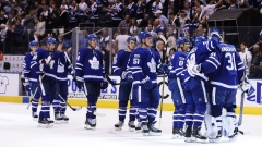 Toronto Maple Leafs celebrate win