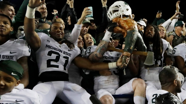 Michigan State celebrates victory