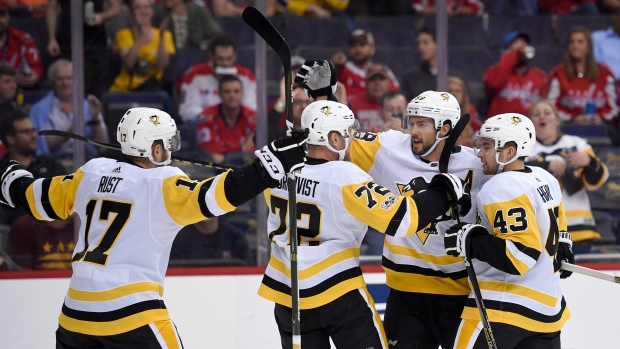 Pittsburgh Penguins celebrate goal