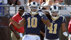 Pharoh Cooper and Marqui Christian celebrate touchdown