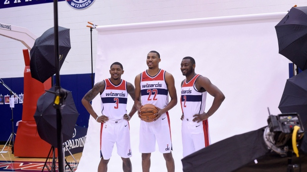 Bradley Beal, Otto Porter Jr. and John Wall