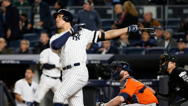 Aaron Judge underwent left shoulder surgery