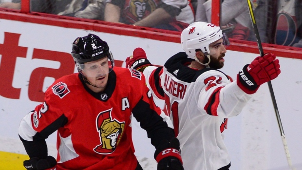 Kyle Palmieri and Dion Phaneuf