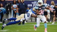 Fajardo's late TD helps Argonauts hold on for wild home victory over Blue Bombers Article Image 0