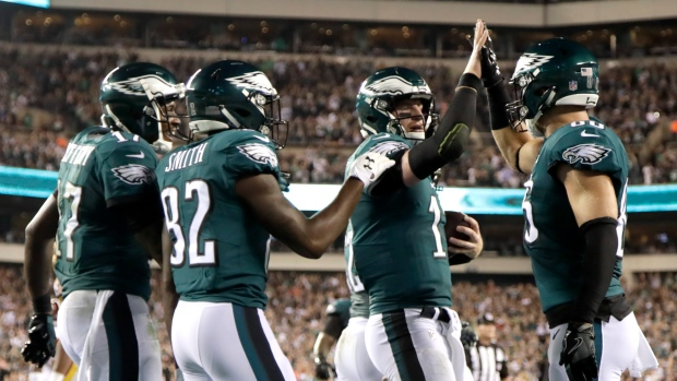 Carson Wentz and Eagles Celebrate
