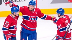 Jonathan Drouin, Shea Weber and Paul Byron