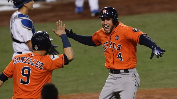 Signs two-year deal — George Springer