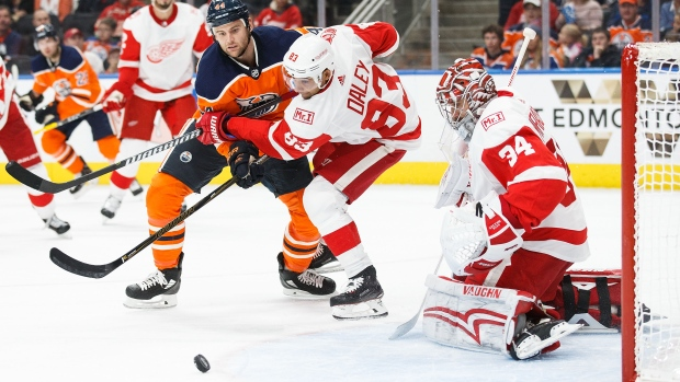 Detroit Red WIngs v Edmonton Oilers