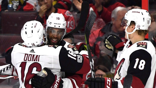 Anthony Duclair and Coyotes Celebrate
