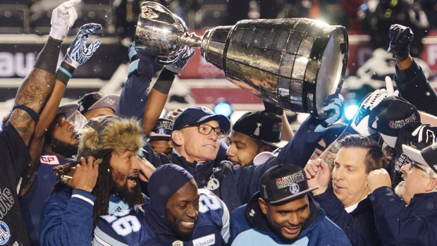 Argonauts Celebrate with Grey Cup