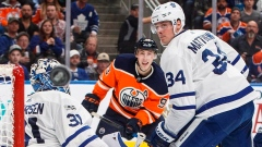 Frederik Andersen, Ryan Nugent-Hopkins & Auston Matthews