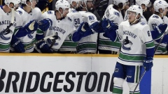 Brock Boeser Canucks bench