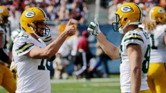 Rodgers, Nelson celebrate