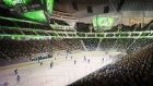 Artist's rendering of proposed renovated KeyArena in Seattle