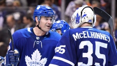 Curtis McElhinney and Patrick Marleau
