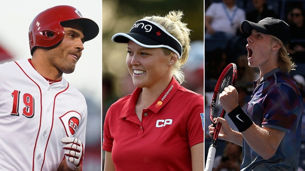 Joey Votto, Brooke Henderson, Denis Shapovalov