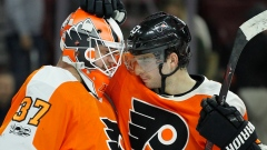 Brian Elliott and Shayne Gostisbehere