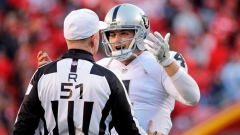 Derek Carr and referee