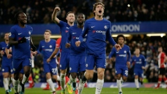 Marcos Alonso, Chelsea celebrate