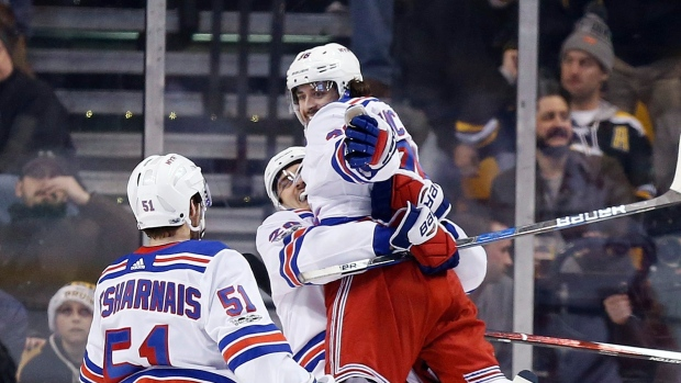 Mats Zuccarello and Rangers Celebrate