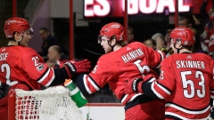 Noah Hanifin and Hurricanes Celebrate
