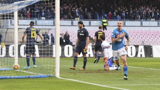 Marek Hamsik passes Diego Maradona's Napoli scoring record