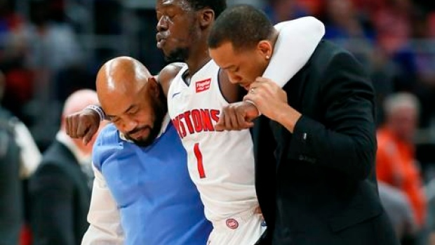 Pistons' Jackson out at least 6 weeks with ankle sprain