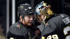 Marc-Andre Fleury and Jonathan Marchessault