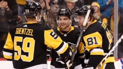 Phil Kessel, Conor Sheary and Jake Guentzel