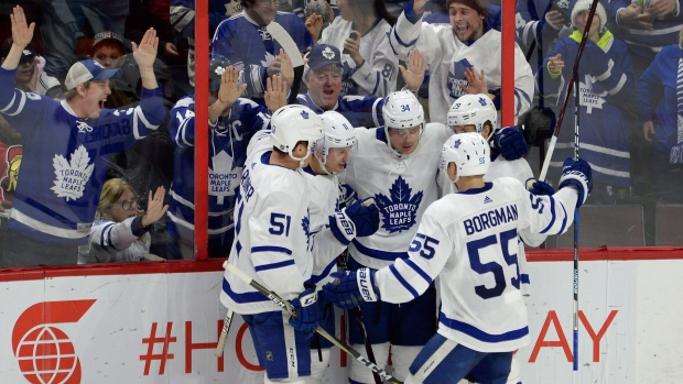 Maple Leafs celebrate