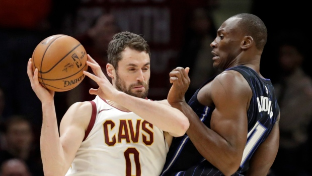 Kevin Love and Bismack Biyombo
