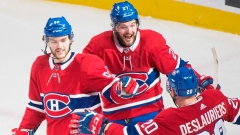 Nicolas Deslauriers, Jonathan Drouin and Alex Galchenyuk