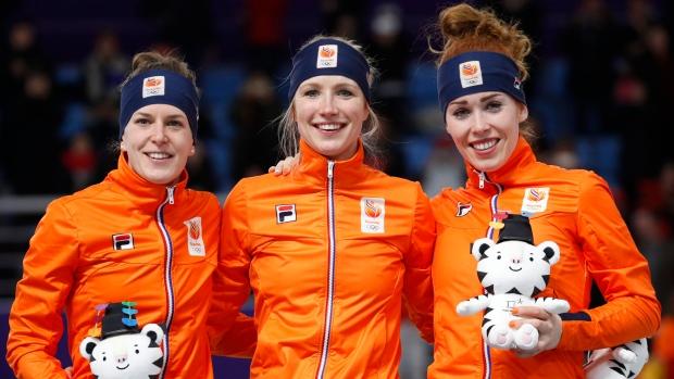 dutch already have first podium sweep in speedskating tsn ca