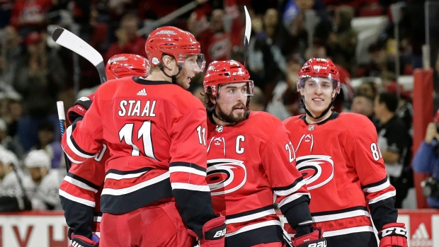 Justin Faulk and Hurricanes Celebrate
