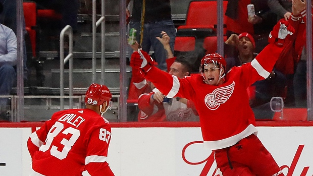 Dylan Larkin and Trevor Daley