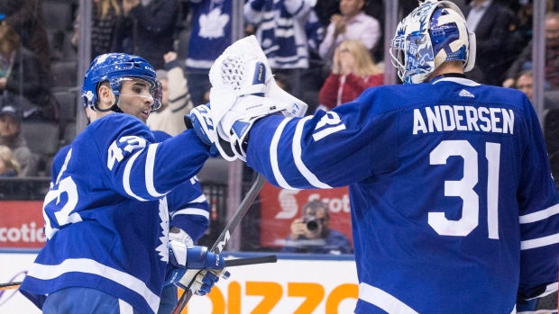 Andersen, Kadri lead Maple Leafs past Blue Jackets